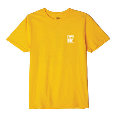 Obey Eyes Icon Basic Tee Gold