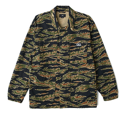 Obey Looming BDU Jacket Tiger Camo
