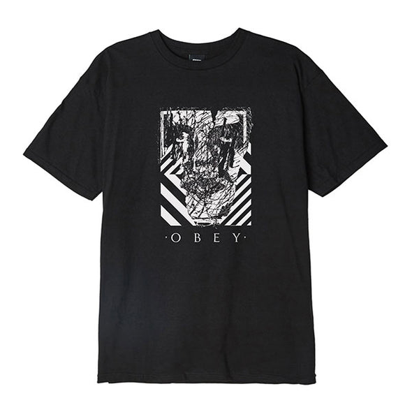 Obey Scratched Icon Basic Tee Black
