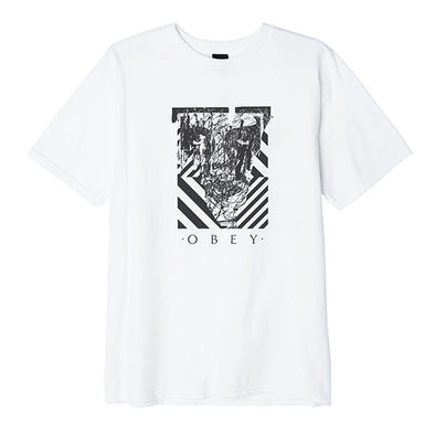 Obey Scratched Icon Basic Tee White