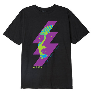 Obey Static Future Basic Tee Black
