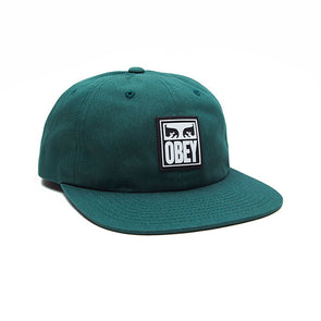 Obey Vanish 6 Panel Snapback Deep Green