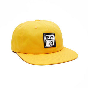 Obey Vanish 6 Panel Snapback Energy Yellow
