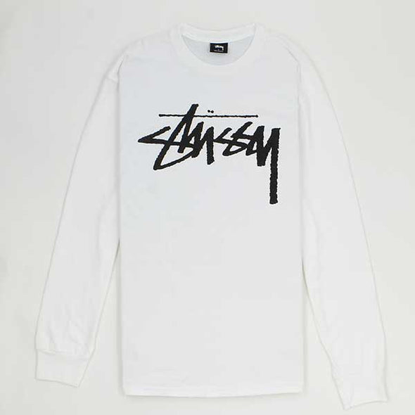 Stussy Old Stock L/S White - Xtreme Boardshop