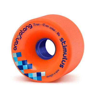 Orangatang Longboard Wheels Stimulus 70mm 80a Orange