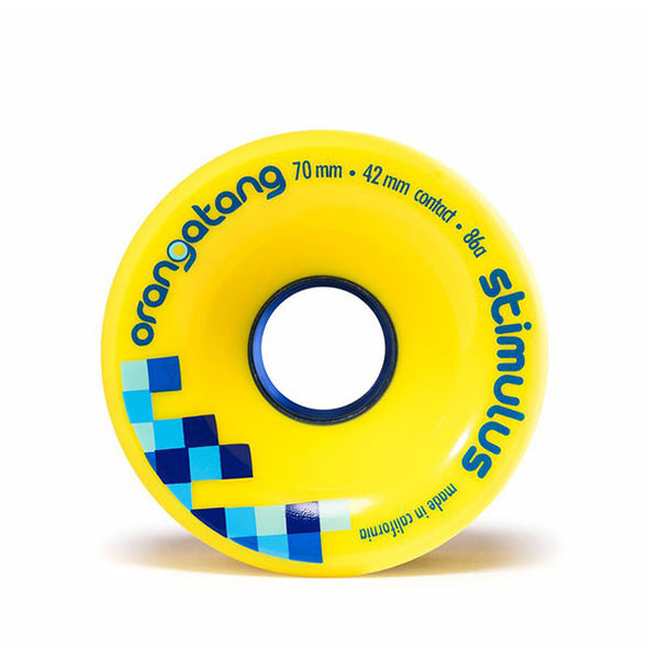 Orangatang Longboard Wheels Stimulus 70mm 86a Yellow
