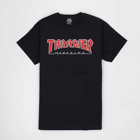 Thrasher Outlined Black - Xtreme Boardshop