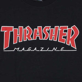 Thrasher Outlined Black