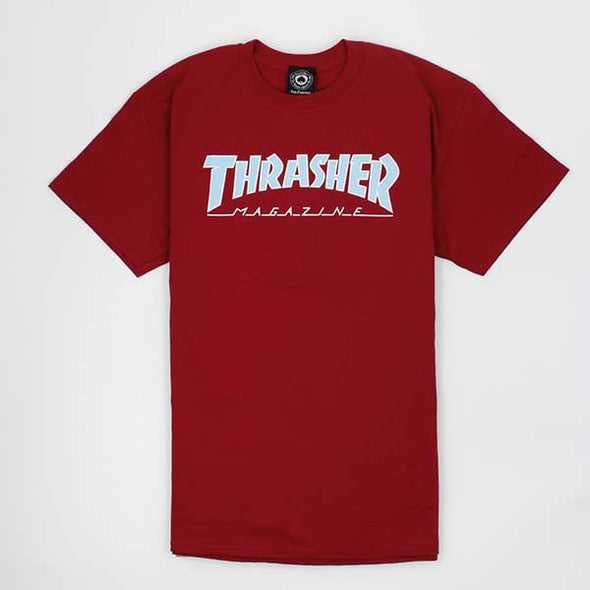 Thrasher Outlined Cardinal Red - Xtreme Boardshop