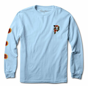 Primitive Dirty P Sunflower LS tee Powder Blue