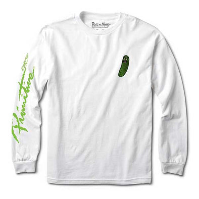 Primitive x Rick and Morty Pickle Rick Long Sleeve Tee White