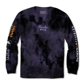 Primitive x Naruto Powers Washed Tie-Dye L/S Tee Purple