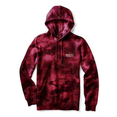 Primitive Revenge Hood Burgundy Wash