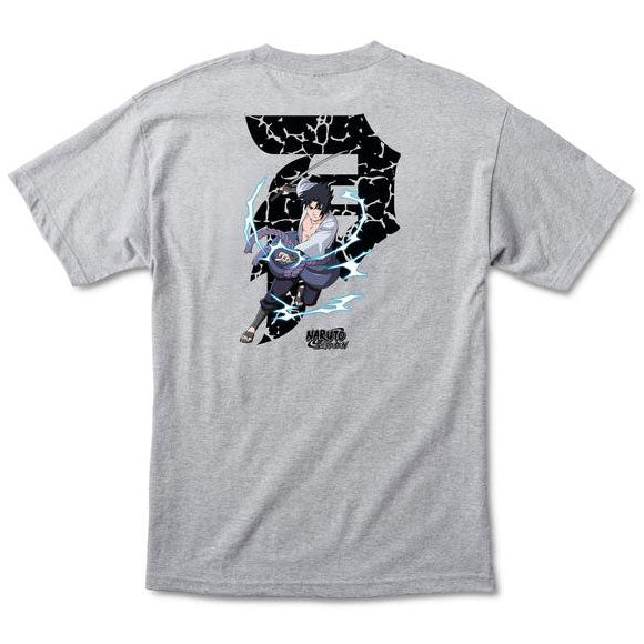 Primitive x Naruto Sasuke Dirty P Tee Athletic Heather