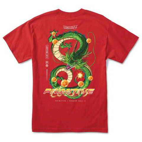 Primitive DBZ Shenron Dirty P Tee Red