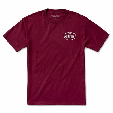Primitive Stronger Tee Burgundy