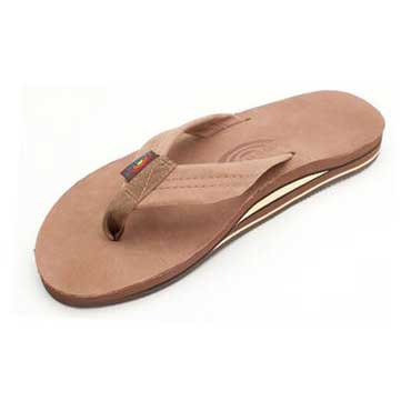Rainbow Sandals Double Layer Premier Leather with Arch Support Dark Brown (Men)