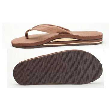 1a3bca05a0b9 Rainbow Sandals Double Layer Premier Leather with Arch Support Dark Brown ( Men)