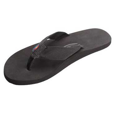 Rainbow Sandals The Cloud Single Layer Soft Top with Arch Support and Polyester Strap Black (Men)