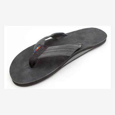 Rainbow Sandals Leather Single Black (Men) - Xtreme Boardshop
