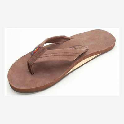 Rainbow Sandals Leather Single Espresso (Men) - Xtreme Boardshop