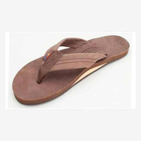 Rainbow Sandals Leather Single Espresso (Women)