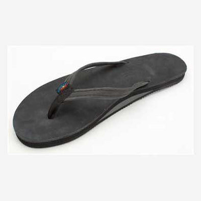 Rainbow Sandals Leather Single Narrow Black (Women) - Xtreme Boardshop