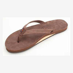 Rainbow Sandals Leather Single Narrow Expresso (Women)