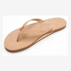 Rainbow Sandals Leather Single Narrow Sierra Brown (Women)