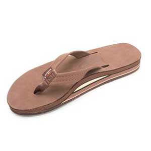 "Rainbow Sandals Double Layer Arch Premier Leather 3/4'"" Strap eXpresso (Women)"