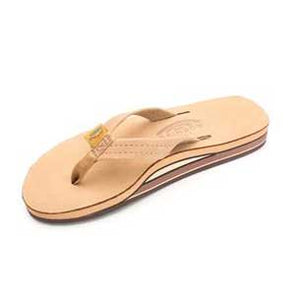 "Rainbow Sandals Double Layer Arch Premier Leather 3/4'"" Strap Sierra Brown (Women)"