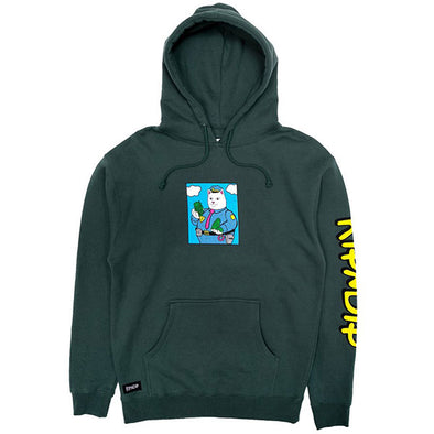 RIPNDIP Confiscated Hoodie Hunter Green