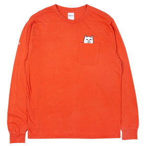 RIPNDIP Lord Nermal Pocket L/S Texas Orange