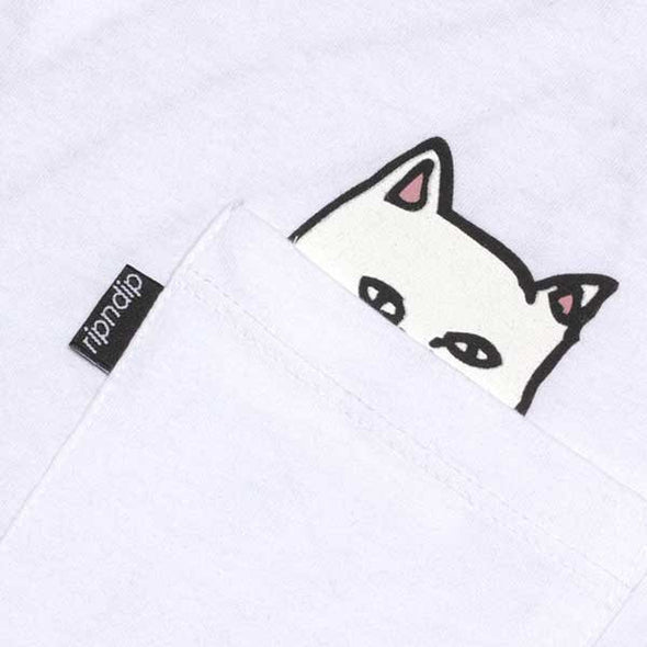 RIPNDIP Lord Nermal Pocket White - Xtreme Boardshop