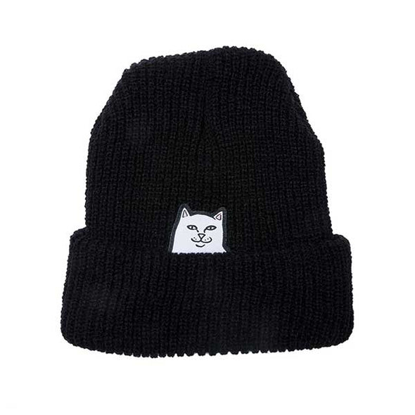 RIPNDIP Lord Nermal Ribbed Beanie Black - Xtreme Boardshop