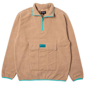 RIPNDIP Repeat Brushed Fleece 3/4 Zip Sweater Natural