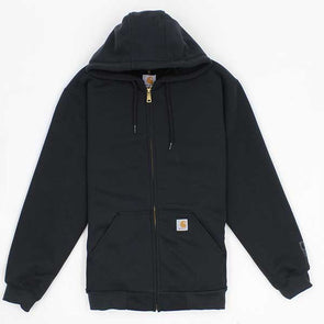 Carhartt Rain Defender Rutland Thermal-Lined Hooded Zip-Front Sweatshirt Black