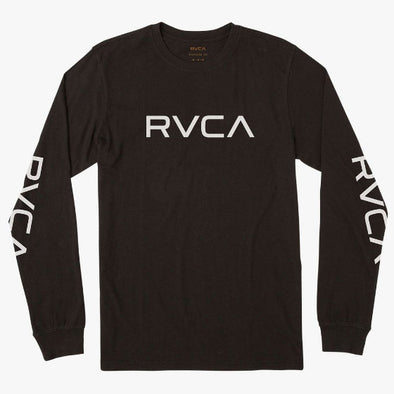 RVCA Big RVCA Long Sleeve T-Shirt Black/White