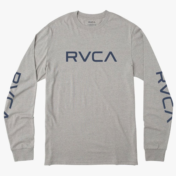 RVCA Big RVCA Long Sleeve T-Shirt Grey Noise