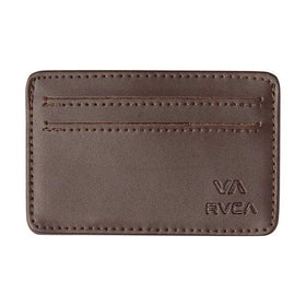 RVCA Card Wallet Brown