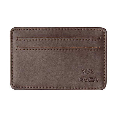RVCA Card Wallet Brown - Xtreme Boardshop