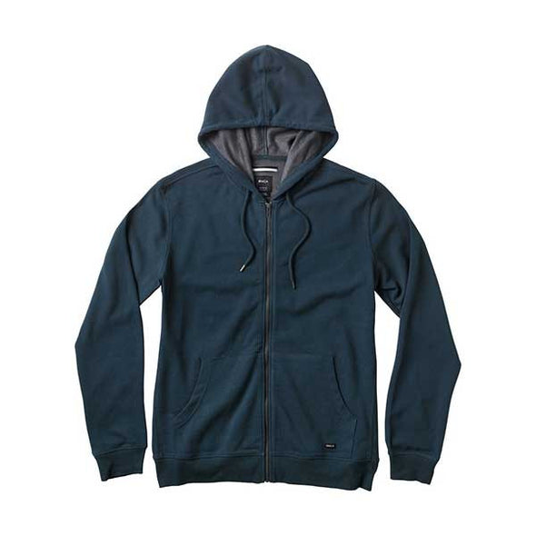 RVCA Crucial II Zip Up Hoodie Midnight - Xtreme Boardshop