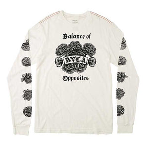RVCA Rose Long Sleeve Antique White - Xtreme Boardshop
