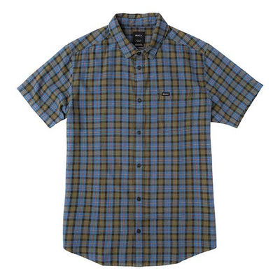 RVCA That'll Do Plaid 3 Shirt Burnt Olive - Xtreme Boardshop