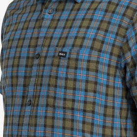RVCA That'll Do Plaid 3 Shirt Burnt Olive