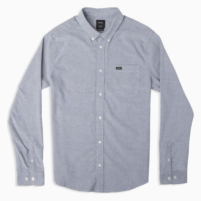 RVCA That'll Do Stretch Long Sleeve Shirt Distant Blue