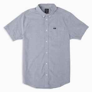 RVCA That'll Do Stretch Short Sleeve Shirt Distant Blue