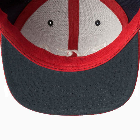 RVCA Twill Snapback III Hat Navy/Red