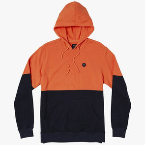 RVCA Carlisle Colorblocked Hoodie Orange Crush