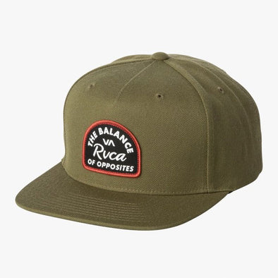 RVCA Contrast Snapback Hat Olive